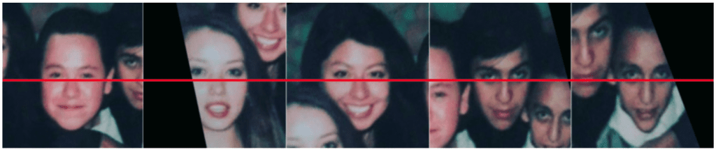 Images after face detection and alignment
